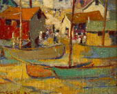Harbored Boats 1932 By Selden Connor Gile