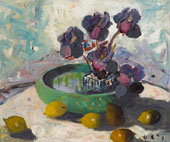 Irises and Fruit 1934 By Selden Connor Gile