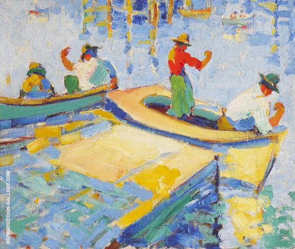 Montere Fishermen 1926 By Selden Connor Gile