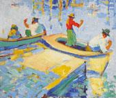 Montere Fishermen 1926 By Selden Connor Gile