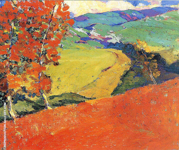 Red Earth 1928 By Selden Connor Gile