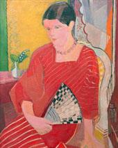 Brigitte in a Red Dress By Oskar Moll