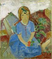 Brigitte in Blue By Oskar Moll