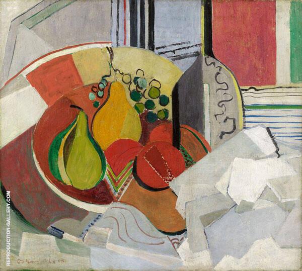 Composition with Fruit By Oskar Moll