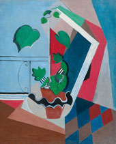 Composition with Indoor Lime Tree and Diamond Pattern By Oskar Moll
