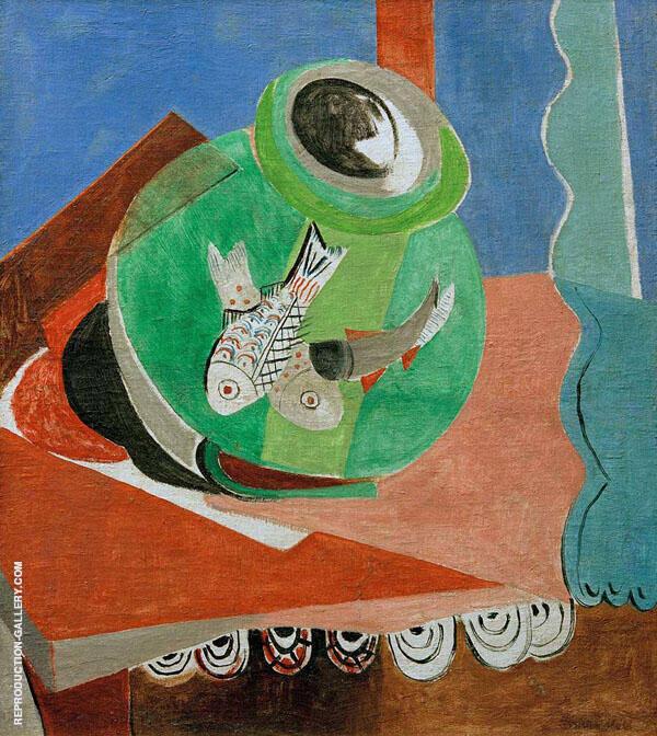 Fish in a Green Glass By Oskar Moll