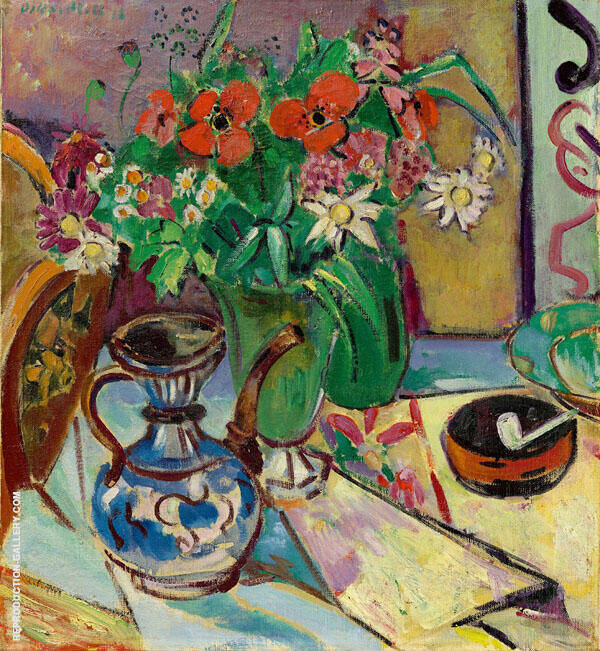 Glass Vase with Jug and Bowl 1918 By Oskar Moll