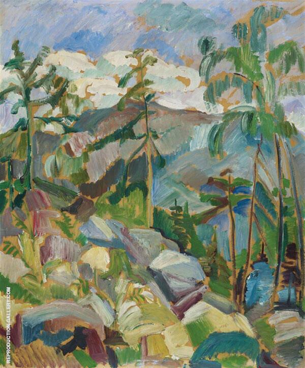 Mountain Landscape By Oskar Moll