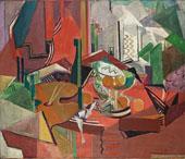 Still Life with Orange By Oskar Moll