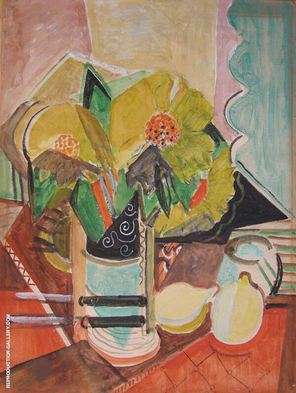 Still Life with Sunflowers By Oskar Moll