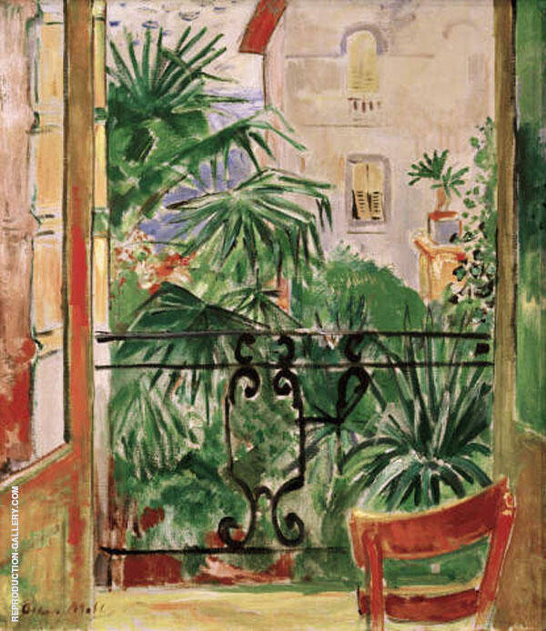 View from The Balcony By Oskar Moll