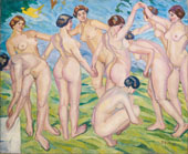Nudes Women Dancing in a Ring By Francisco Iturino
