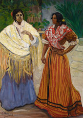 Two Gypsies By Francisco Iturino