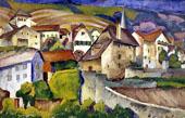 City in Switzerland 1914 By Ilya Mashkov
