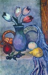 Fruit and Tulips By Ilya Mashkov