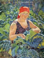 Girl on The Tobacco Plantation By Ilya Mashkov