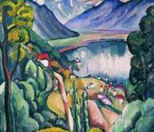 Lake Geneva 1914 By Ilya Mashkov