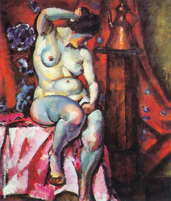 Nude 1920 Painting By Ilya Mashkov - Reproduction Gallery