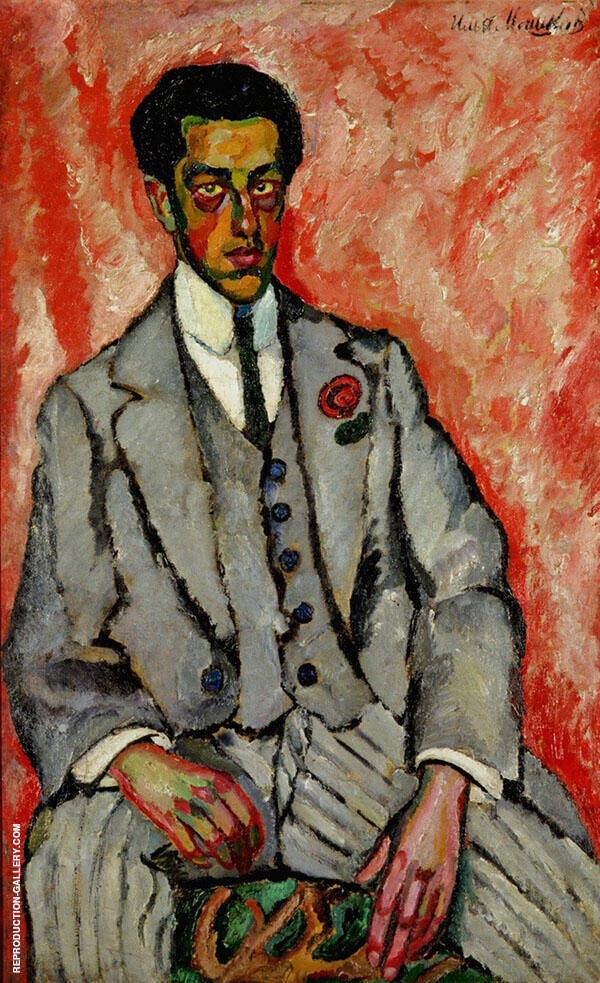 Portrait of an Unknown Man Painting By Ilya Mashkov - Reproduction Gallery