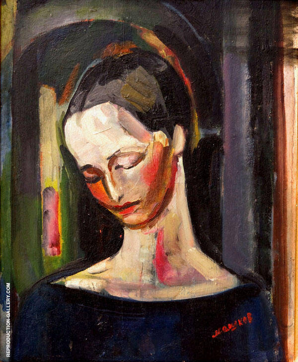Portrait of a Woman Painting By Ilya Mashkov - Reproduction Gallery