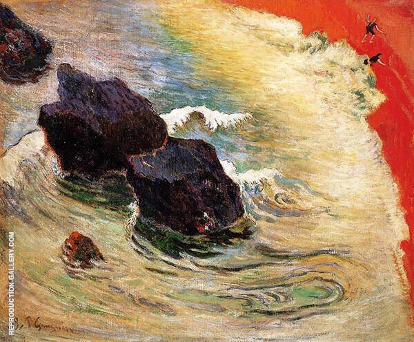 The Wave 1888 Painting By Paul Gauguin - Reproduction Gallery