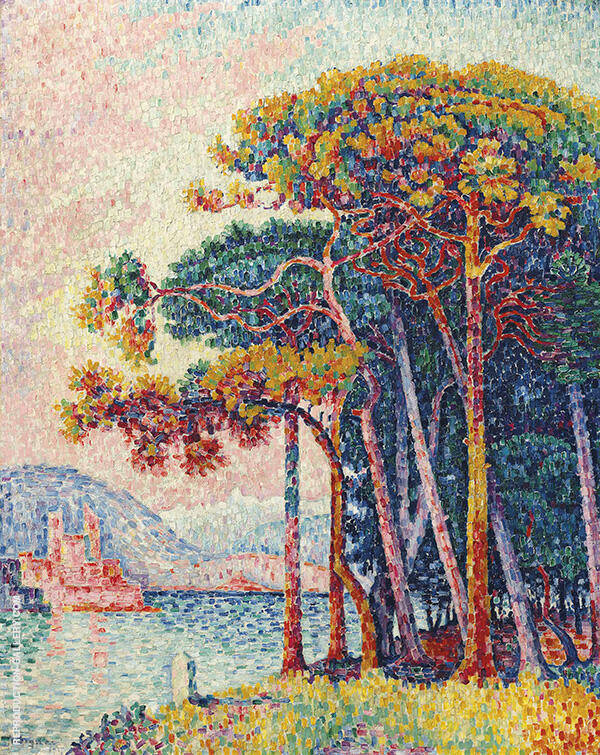 Antibes 1817 Painting By Paul Signac - Reproduction Gallery
