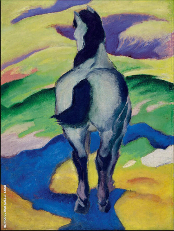 Blue Horse II By Franz Marc