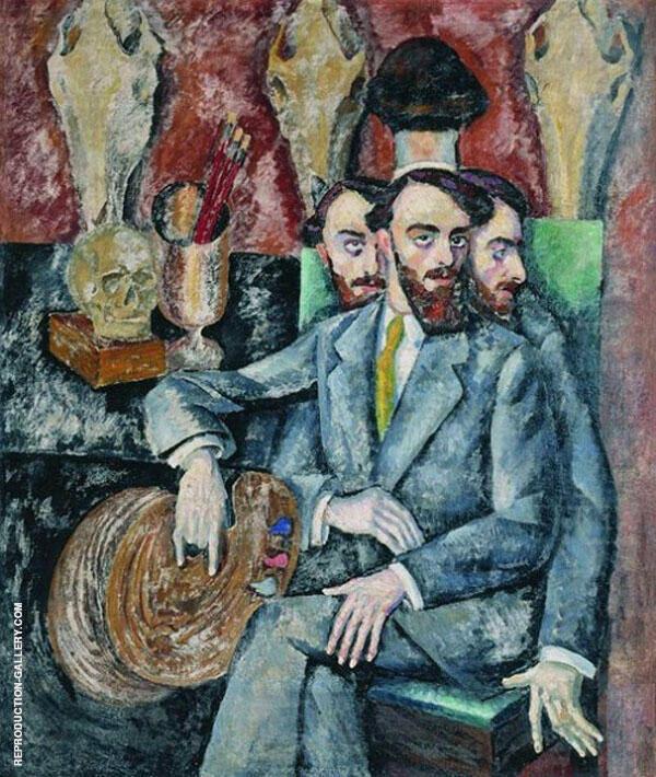 Portrait of The Artist AI Milman Painting By Ilya Mashkov
