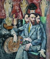 Portrait of The Artist AI Milman By Ilya Mashkov