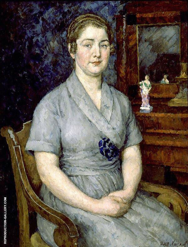Portrait of The Artist's Wife Maria Painting By Ilya Mashkov
