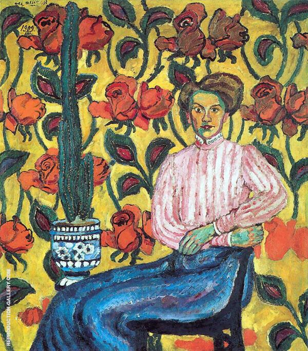 Portrait of VP Vinogradova Painting By Ilya Mashkov - Reproduction Gallery