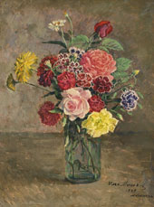 Roses and Carnations By Ilya Mashkov