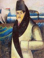 Self Portrait 1911 By Ilya Mashkov
