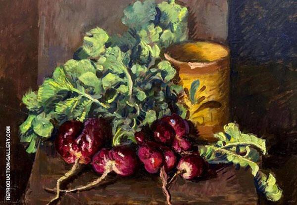 Still Life Radish 1942 By Ilya Mashkov   Oil Painting Replica On Canvas