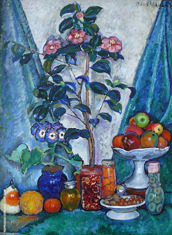 Still Life with Camellias 1915 By Ilya Mashkov