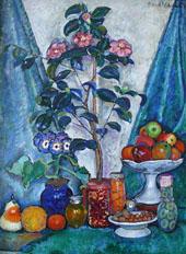 Still Life with Camellias 1915 By Ilya Mashkov