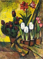 Still Life with Flowers 1912 By Ilya Mashkov