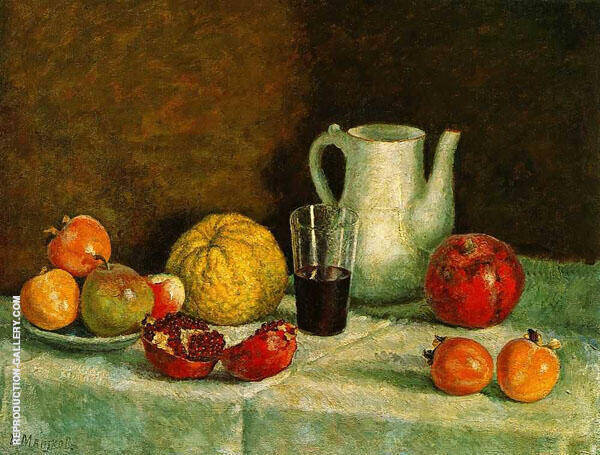Still Life with The Broken Pomegranate By Ilya Mashkov