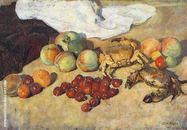Still Life with Сrabs Painting By Ilya Mashkov