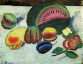 Still Life with Fruit By Ilya Mashkov