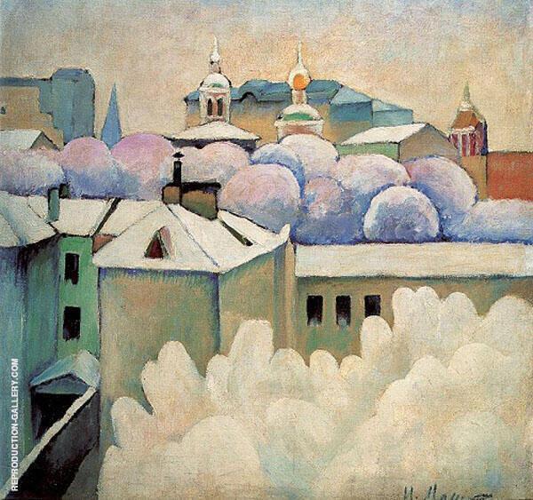 Winter Landscape Painting By Ilya Mashkov - Reproduction Gallery