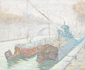 Canal Boats Paris By Rinaldo Cuneo