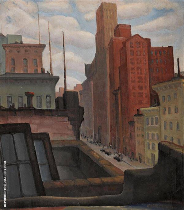 Market Street Rooftops By Rinaldo Cuneo