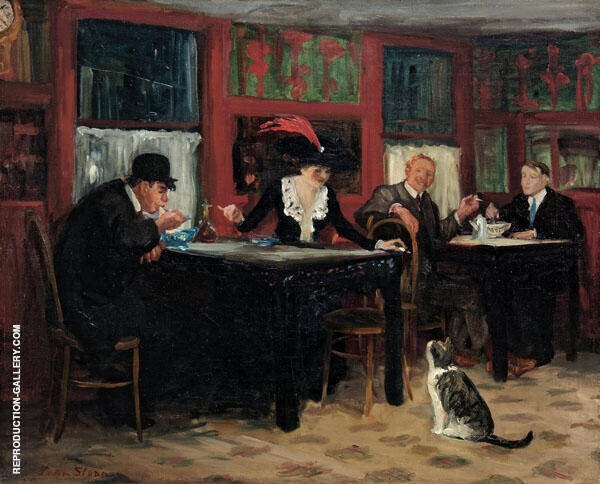Chinese Restaurant 1909 Painting By John Sloan - Reproduction Gallery