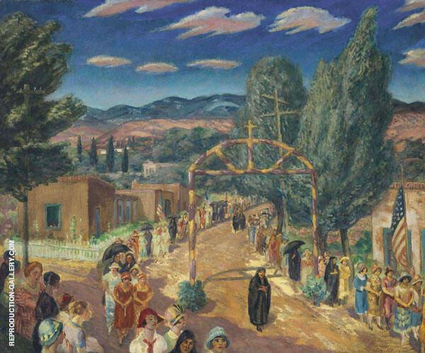 Christi Procession Painting By John Sloan - Reproduction Gallery
