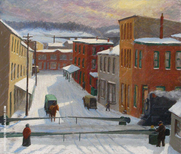 Drifting Snow Painting By John Sloan - Reproduction Gallery