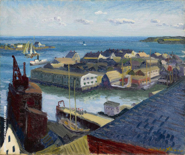 Fishing Port Gloucester 1916 Painting By John Sloan - Reproduction Gallery
