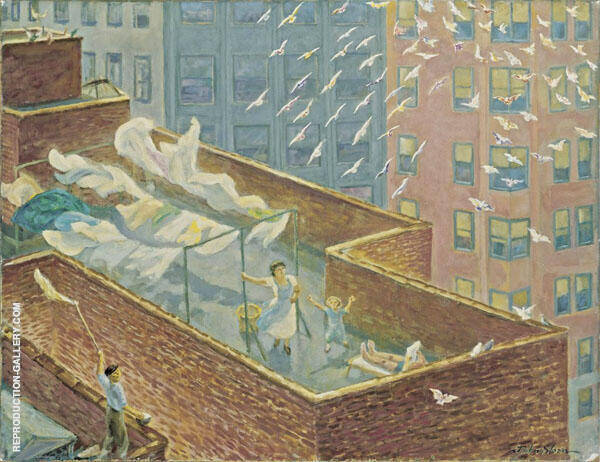 From The Rooftops Painting By John Sloan - Reproduction Gallery