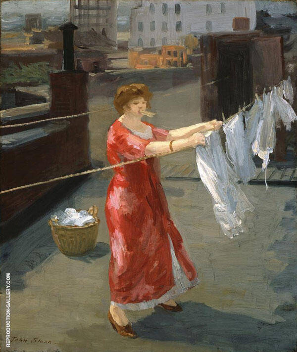 From The Rooftops 2 Painting By John Sloan - Reproduction Gallery