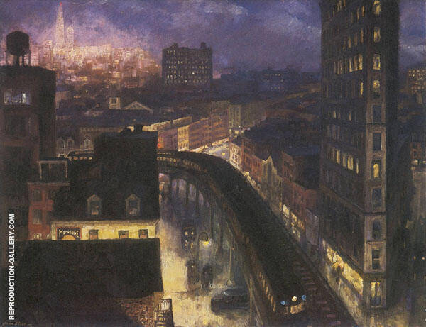 Greenwich Village 1922 Painting By John Sloan - Reproduction Gallery
